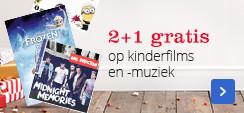 2+1 gratis op kinderfilms en -muziek