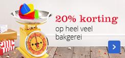 20% korting op bakgerei