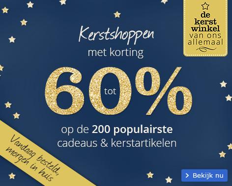 Kerstshoppen met korting tot 60% op de top 200 populairste cadeaus en kerstartikelen