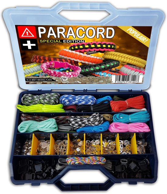 100-Delige Paracord Set in Opbergkoffer (** SPECIAL EDITION **)
