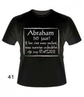 t shirt abraham 50 jaar bol.| Slogan T Shirt   Abraham 50 jaar. Maat XL, Paper dreams  t shirt abraham 50 jaar