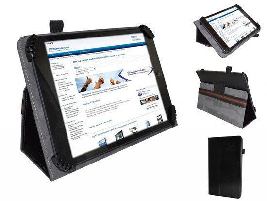 Fold up hoesje voor Disgo 7000 , Kleur Zwart , merk i12Cover in Lutterveld