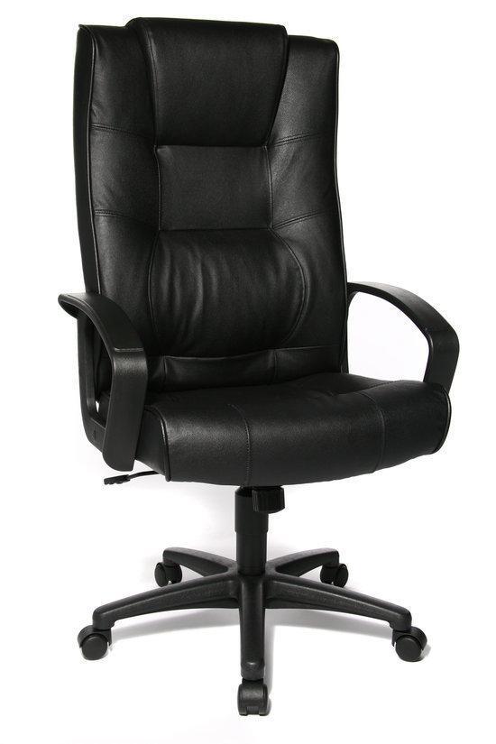 Topstar bureaustoel ortega leather black for Bureau stoel
