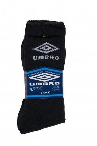 Umbro 3-pack - Sportsokken - Unisex - Maat 43-46 - Zwart