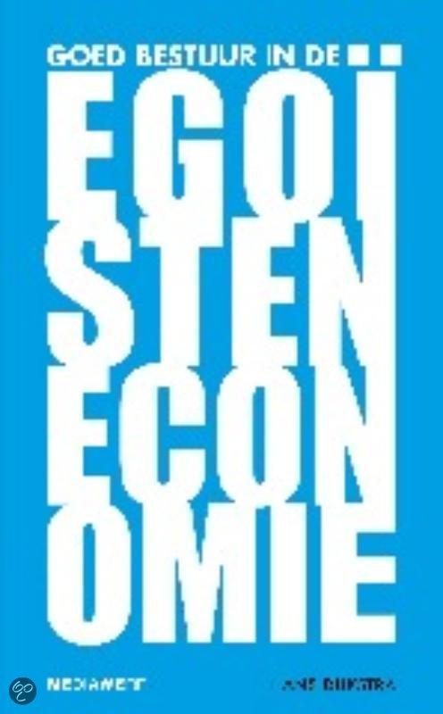 Goed bestuur in de egoisteneconomie