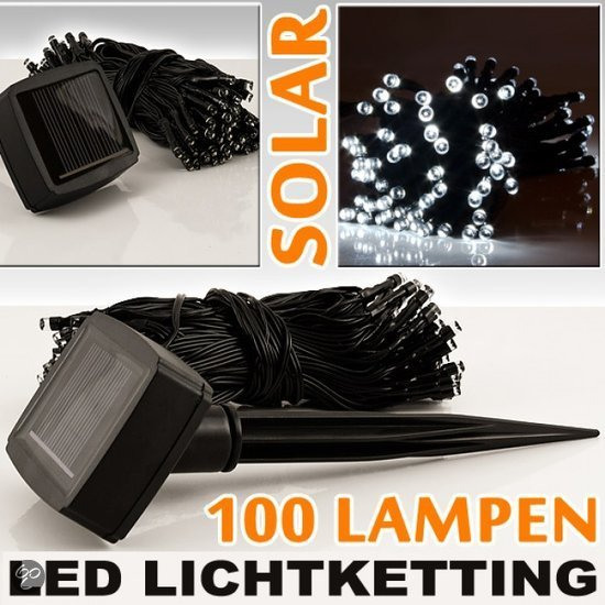 solar led lampen led lichtketting kerstverlichting 100 lampjes 15 meter. Black Bedroom Furniture Sets. Home Design Ideas
