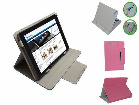 Prestigio Multireader 3884 Diamond Class Hoes, Luxe Cover, Comfortabele Case, roze , merk i12Cover in Schulen