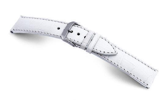 Rios1931 Horlogeband -  New Orleans Wit - Leer - 20 mm