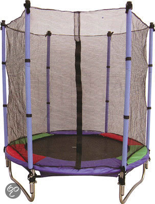 trampoline set met veiligheidsnet 140 cm. Black Bedroom Furniture Sets. Home Design Ideas