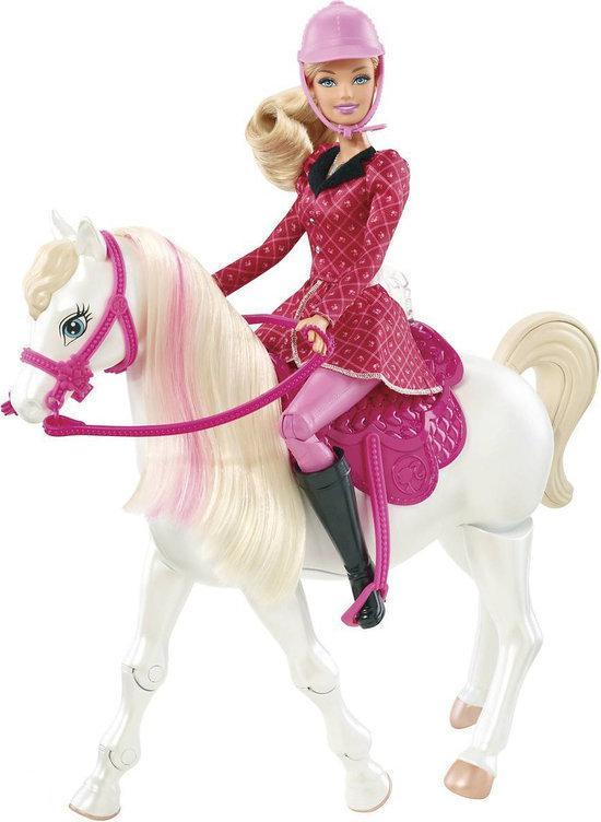 barbie met echt lopend paard mattel speelgoed