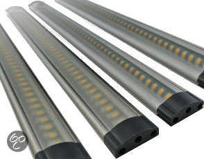 fortuijn led lamp led bar touch 3w 12v complete set met 4 bars