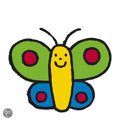 Vlindertje blij