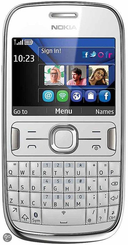 Nokia Asha 302 - Wit - Telfort prepaid telefoon
