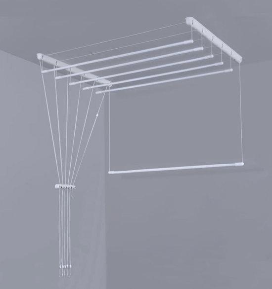 bolcom ruimtebesparend plafond droogrek 7 x 150 cm