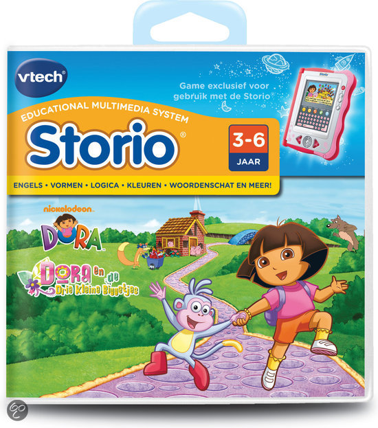 Vtech storio game dora vtech speelgoed for Housse storio max 7