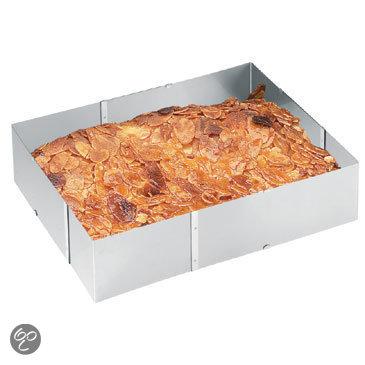 Verstelbare kookring / taartring, vierkant -Gefu