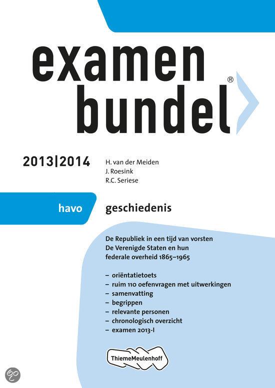 Examenbundel / 2013/2014 havo geschiedenis