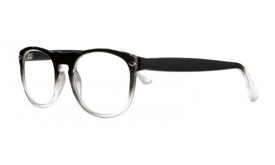 Icon Eyewear QCB002 Luciano Leesbril +2.50 - Zwart, transparant