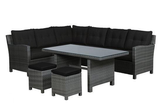 garden impressions loungeset aboyne 5 delig kunststof earl grey. Black Bedroom Furniture Sets. Home Design Ideas