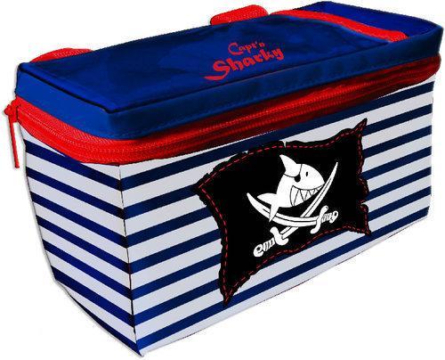 Fietsstuurstas 'Kapitein Sharky' - Stuurtas - Blauw/Wit