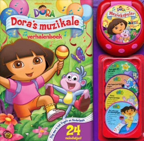 Dora's muzikale verhalenboek + 4 CD's