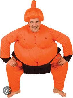 Kostuum Sumoworstelaar Oranje