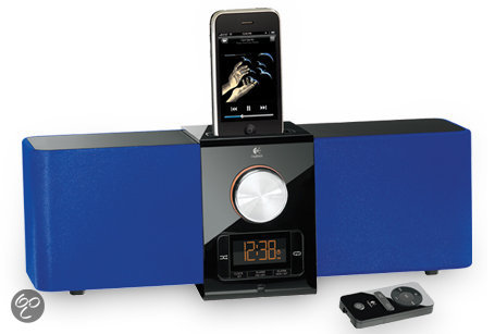 Logitech Pure-Fi Express Plus - Dockingstation met wekkerradio - Blauw