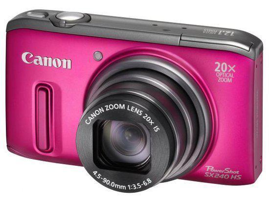 Canon PowerShot SX240 HS - Roze