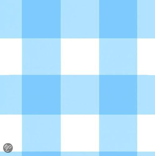 Baby Blauw Behang.Bol Com Onszelf Behang Oz 7629 Grote Ruit Blauw