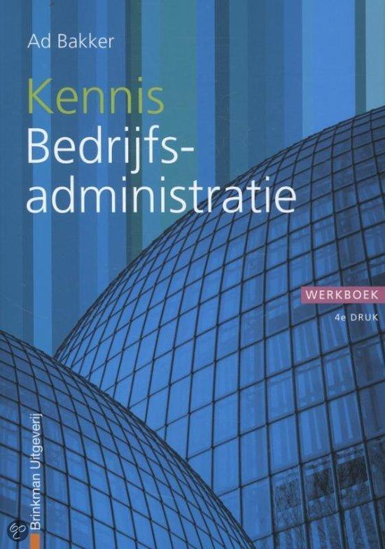 Kennis bedrijfsadministratie / deel Werkboek