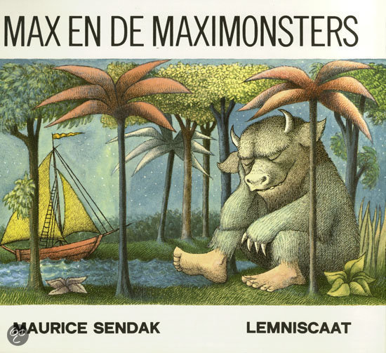 Gebruikte illustratie technieken in Max en de Maximonsters: pen, inkt en waterverf