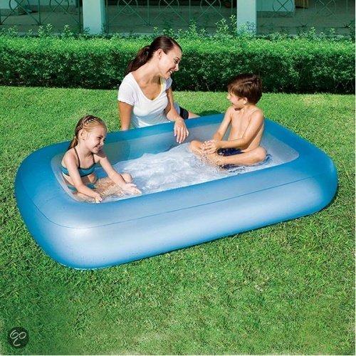 Bestway zwembad 1 ring opblaasbare bodem for Opzet zwembad rechthoek