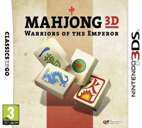 Mahjong 3D:Warriors Of The Emperor - 2DS + 3DS