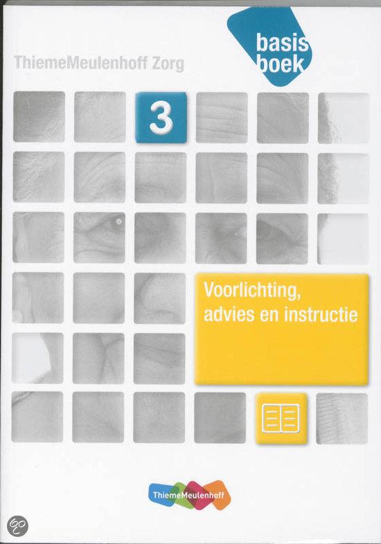 Voorlichting, advies en instructie / niveau 3 / deel Basisboek