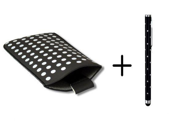 Polka Dot Hoesje voor Ac Ryan M5 4 met gratis Polka Dot Stylus, Zwart, merk i12Cover in Netterden