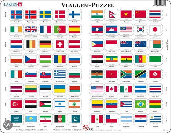 bolcom larsen puzzel vlaggen van alle landen l2