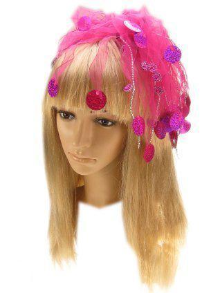 Haardeco pink met pailletten