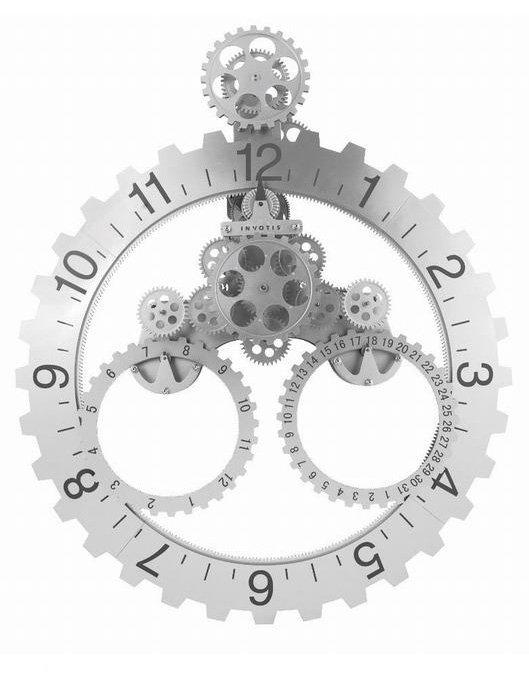 Invotis day month wheel clock klok rond for Orologio da parete invotis