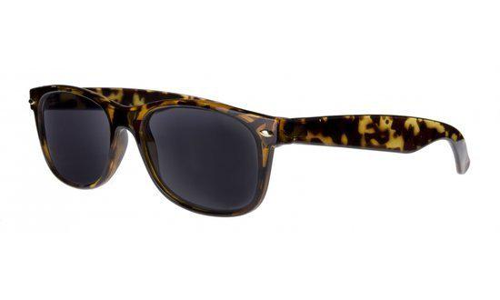 2105e54d255015 Icon Eyewear RBD013 WayeFarer Zonneleesbril +1.00 - Tortoise - UV400
