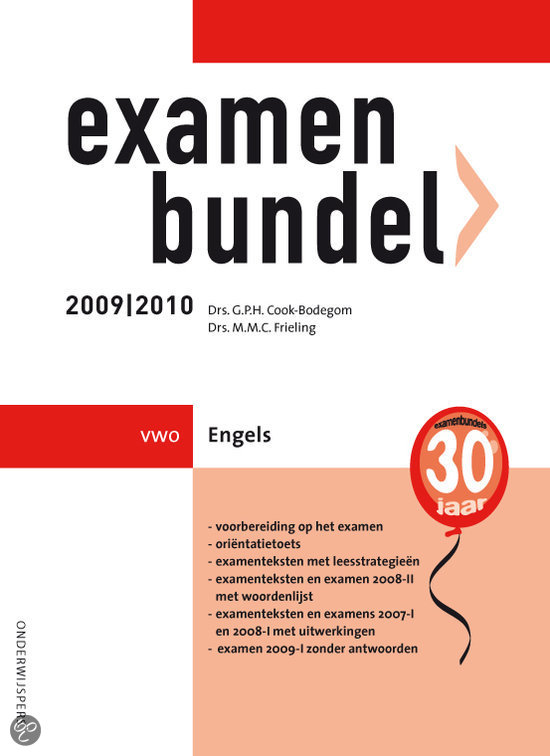 Examenbundel / 2009/2010 Vwo Engels