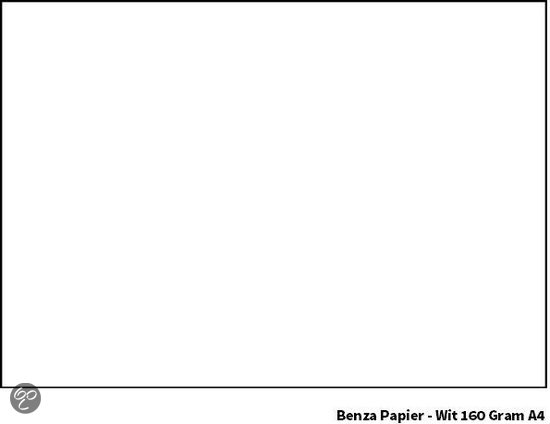 Benza Printpapier Hobbykarton 160 Gram A4 - Wit - 50 stuks
