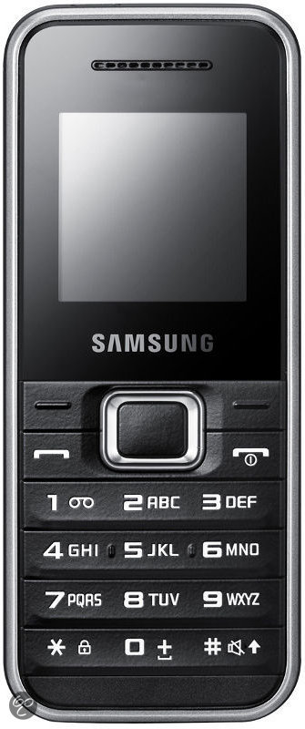 Samsung E1180 - Zwart/zilver - T-Mobile prepaid telefoon