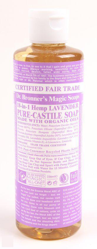 Dr. Bronner Liquid Soap Lavender - 236 ml - Douchegel