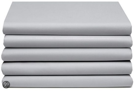 Laken katoen 160 x 260 (94) light grey Standaard Damai