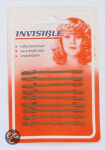 Invisible Haarschuifjes Invisible blond kort schuifspeld