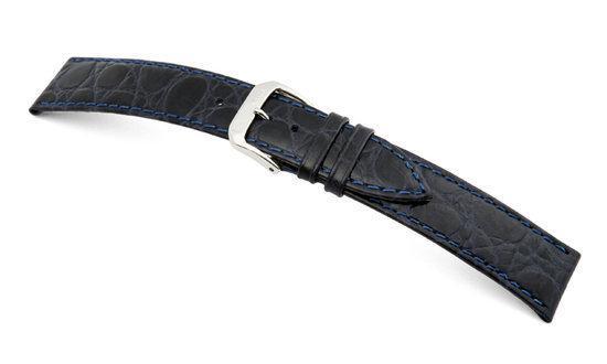 Rios1931 Horlogeband -  Brazil Donkerblauw - Leer - 10 mm