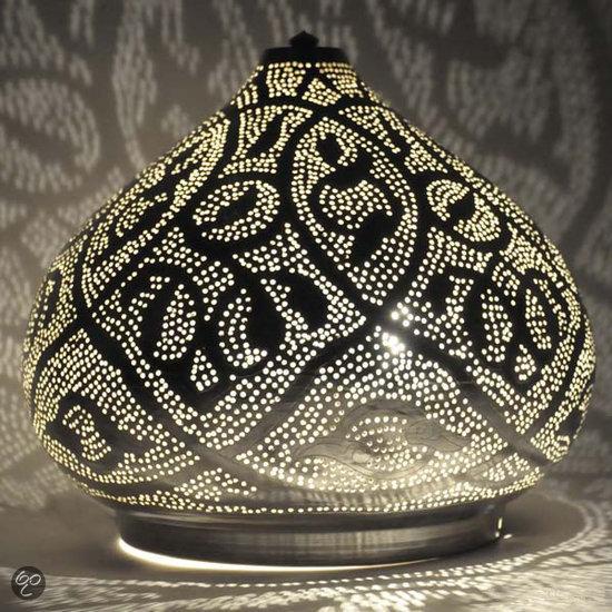 Nour lifestyle naras l tafellamp verzilverd geelkoper wonen - Grote tafellamp ...