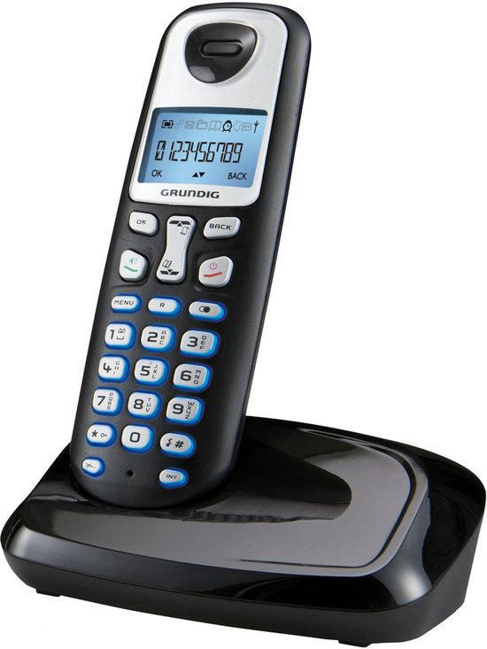 Grundig D210 - Single DECT telefoon - Zwart