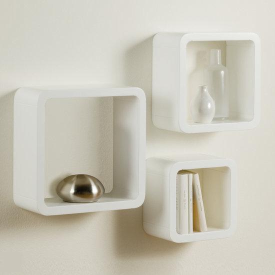 Duraline kubussen wandelement wit mdf set van 3 - Kubus interieurs ...