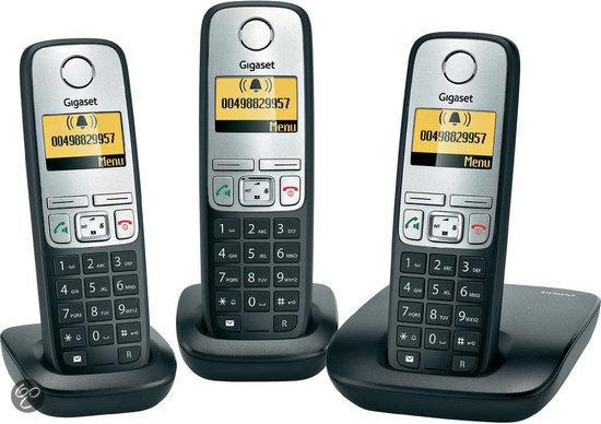 Gigaset A400 - Trio DECT telefoon - Zilver